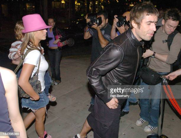 Nicole Appleton and Liam Gallagher during Adidas Originals Store Launch Party at The Hospital Club in London England Great Britain