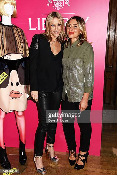 Nicole Appleton and Melanie Blatt attend the after party of the world premiere of 'Absolutely Fabulous The Movie' at Liberty on June 29 2016 in...