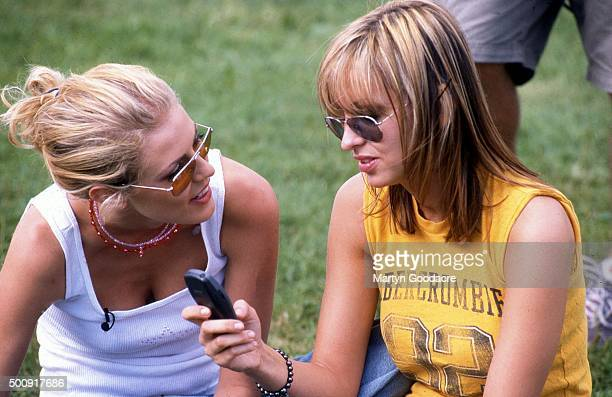 Nicole Appleton and Natalie Appleton of All Saints at V98 United Kingdom 1998