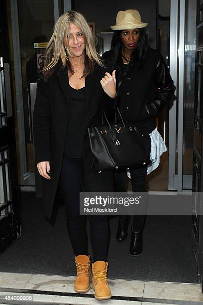 Nicole Appleton and Shaznay Lewis of All Saints seen at BBC Radio 2 on April 11 2014 in London England