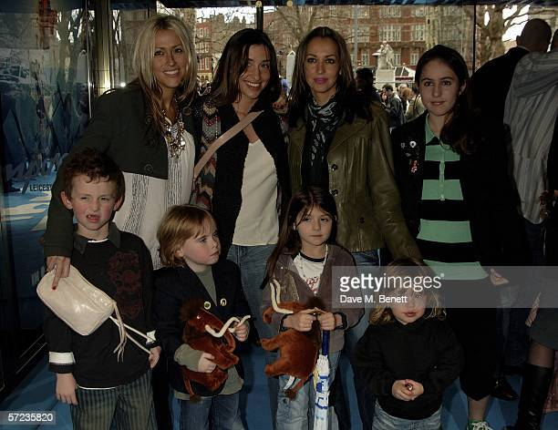 Nicole Appleton Melanie Blatt and Natalie Appleton with Nicole's son Gene AppletonGallagher and guests arrive at the UK Premiere of 'Ice Age 2 The...