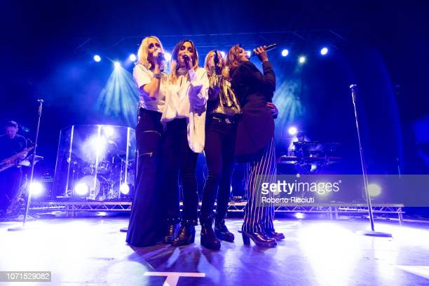 Nicole Appleton Melanie Blatt Natalie Appleton and Shaznay Lewis of All Saints perform on stage at O2 Academy Glasgow on December 10 2018 in Glasgow...
