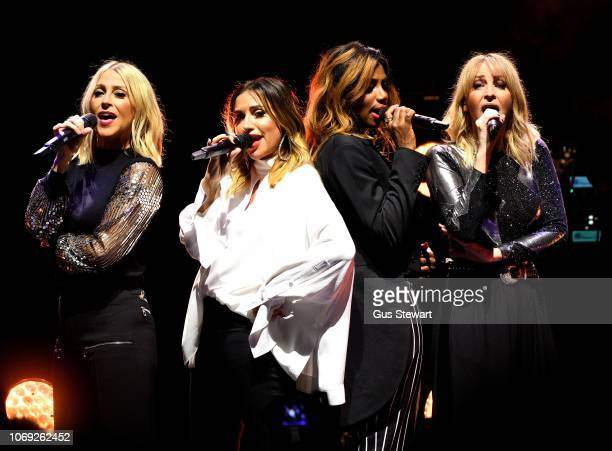 Nicole Appleton Melanie Blatt Shaznay Lewis Natalie Appleton of All Saints perform on stage at Eventim Apollo on December 6 2018 in London England