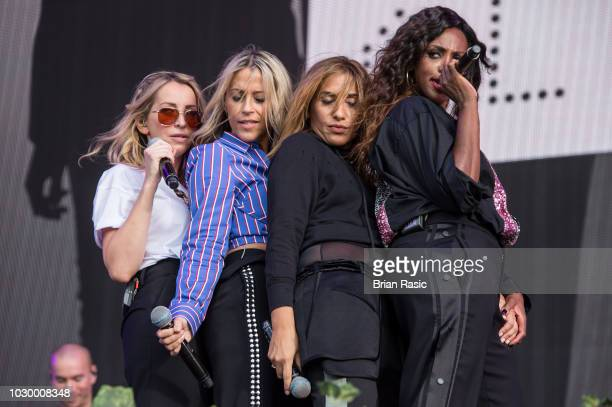 Nicole Appleton Natalie Appleton Melanie Blatt and Shazney Lewis of All Saints perform live at BBC Radio 2 Live in Hyde Park at Hyde Park on...