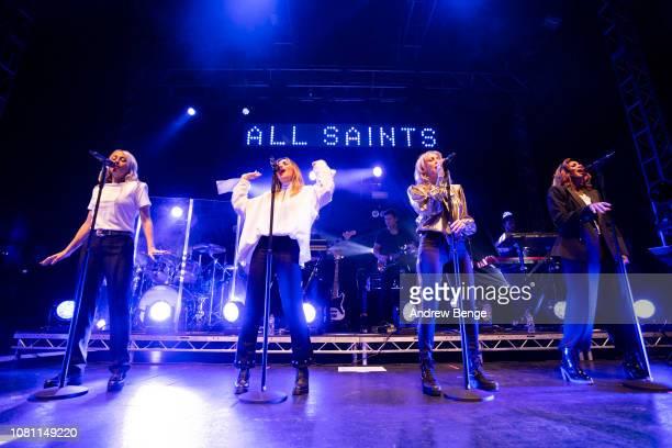 Nicole Appleton Natalie Appleton Shaznay Lewis and Melanie Blatt of All Saints performs live at O2 Academy Leeds on December 11 2018 in Leeds England