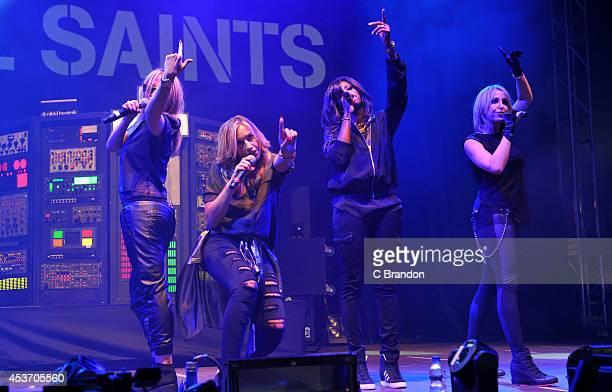 Nicole Appleton Natalie Appleton Shaznay Lewis and Melanie Blatt of All Saints perform on stage at the V Festival at Hylands Park on August 16 2014...