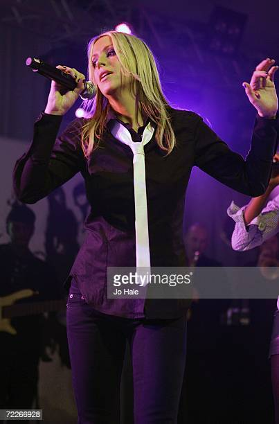 Nicole Appleton of All Saints performs at The Pavillion on October 25 2006 in London England