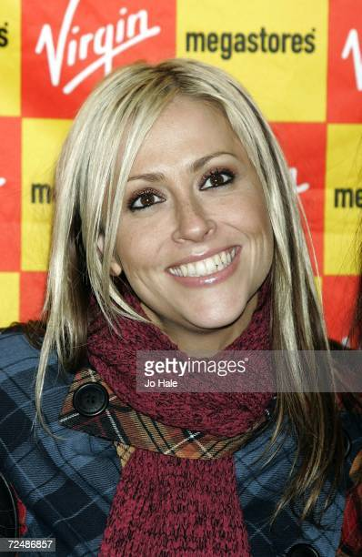 Nicole Appleton of the group All Saints poses before signing copies of their new single 'Rock Steady' at the Virgin Megastore on November 9 2006 in...