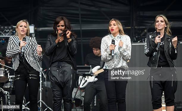 Nicole Appleton Shaznay Lewis Melanie Blatt and Natalie Appleton perform at V Festival at Hylands Park on August 21 2016 in Chelmsford England