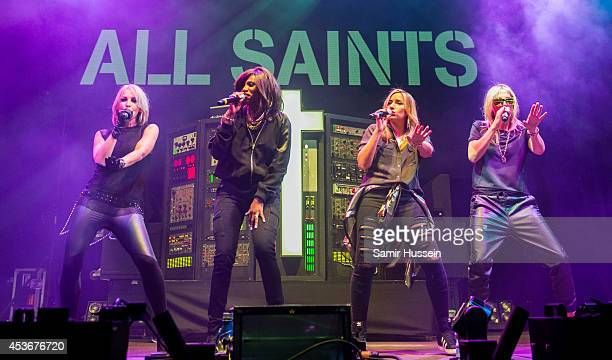 Nicole Appleton Shaznay Lewis Melanie Blatt and Natalie Appleton of All Saints perform on Day 1 of the V Festival at Hylands Park on August 16 2014...