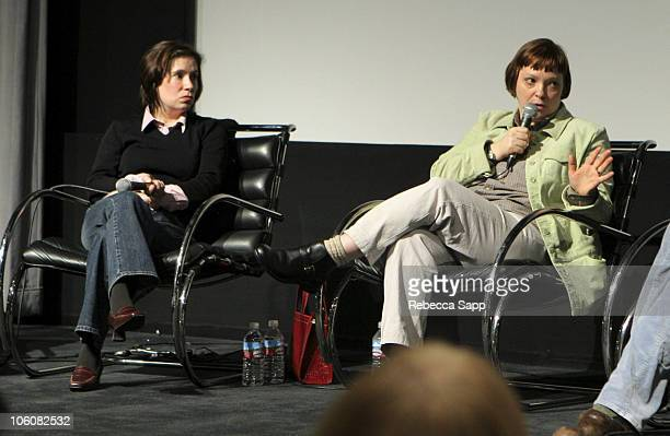 Nicole Arbusto and Hilary Brougher during Film Independent's Director Series March 15 2006 at Pacific Design Center in Los Angeles California United...