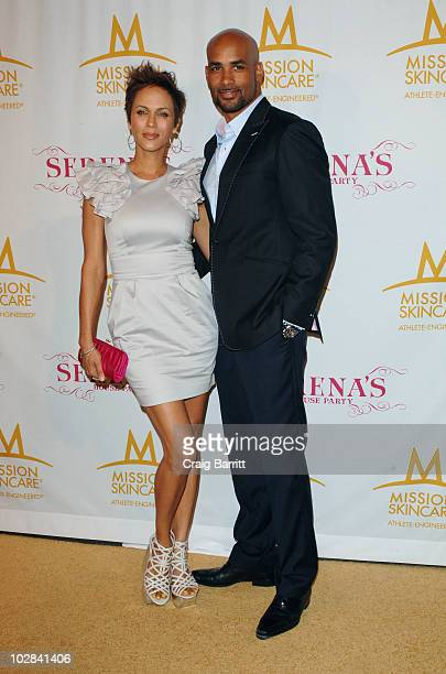 Nicole Ari Parker and Boris Kodjoe arrive at Serena William's PreEspys Party on July 12 2010 in Los Angeles California