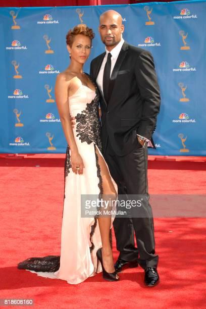 Nicole Ari Parker and Boris Kodjoe attend 62nd Annual Primetime Emmy Awards Arrivals at Nokia Theatre LA Live on August 29 2010 in Los Angeles CA