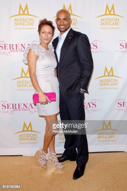 Nicole Ari Parker and Boris Kodjoe attend Serena Williams Throws A PreESPY's Fete to Honor Athletes and Celebrities at a Private Residence on July...