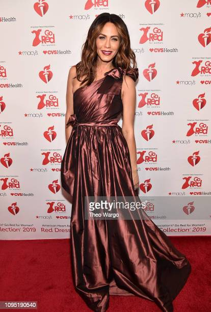 Nicole Ari Parker attends The American Heart Association's Go Red For Women Red Dress Collection 2019 Presented By Macy's at Hammerstein Ballroom on...