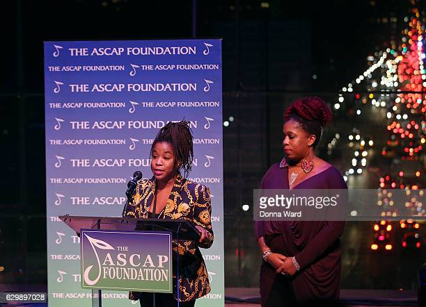 Nicole Ashford and Asia Ashford attend the 2016 ASCAP Foundation Honors at Frederick P Rose Hall Jazz at Lincoln Center on December 14 2016 in New...