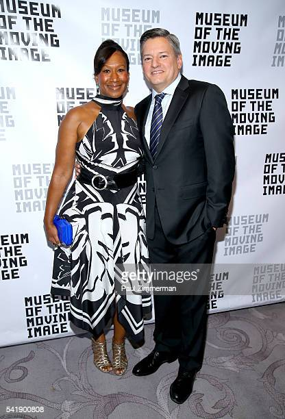 Nicole Avant and Ted Sarandos attend the Museum Of The Moving Image Honors Netflix Chief Content Officer Ted Sarandos And Seth Meyers at St Regis...