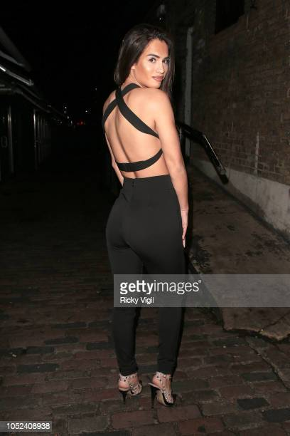 Nicole Bass seen attending Ellie Jones and Keiran Nicholls fake tan range launch party at FEST Camden on October 17 2018 in London England