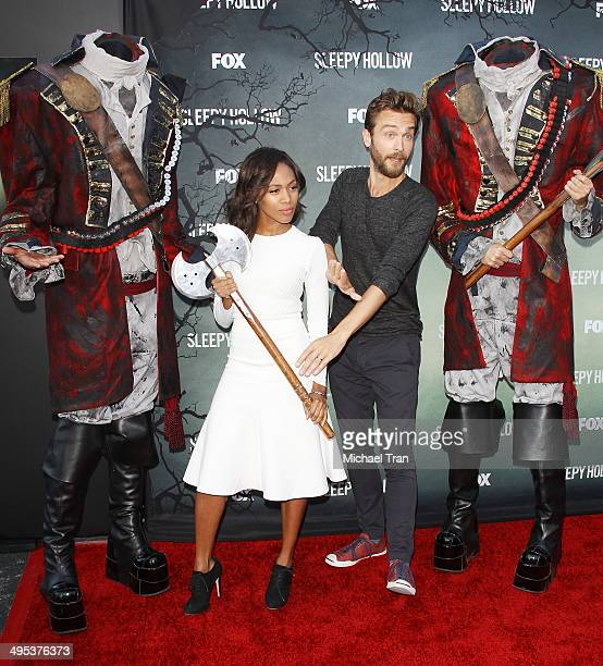 Nicole Beharie and Tom Mison arrive at Fox's 'Sleepy Hollow' special screening held at Hollywood Forever on June 2 2014 in Hollywood California
