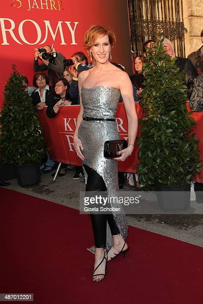 Nicole Beutler attends the 25th Romy Award 2014 at Hofburg Vienna on April 26 2014 in Vienna Austria
