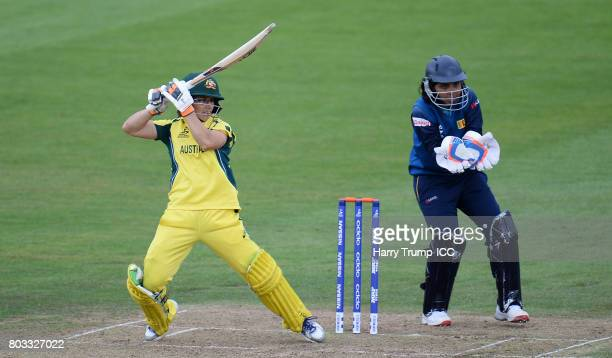 Nicole Bolton of Australia bats during the ICC Women's World Cup 2017 match between Sri Lanka and Australia on June 29 2017 in Bristol England