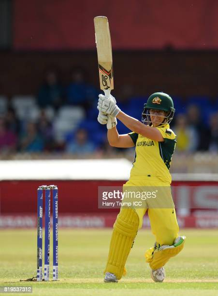 Nicole Bolton of Australia bats during the ICC Women's World Cup 2017 match between Australia and India at The 3aaa County Ground on July 20 2017 in...