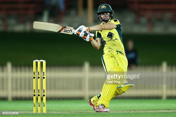 Nicole Bolton of Australia bats during the women's One Day International match between the Australian Southern Stars and South Africa at North Sydney...