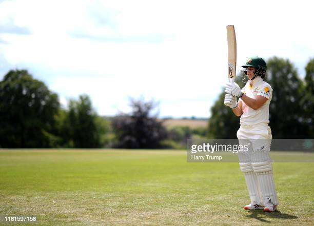 Nicole Bolton of Australia Women prepares to make her way out to bat during Day Two of the International Friendly match between England Women's...