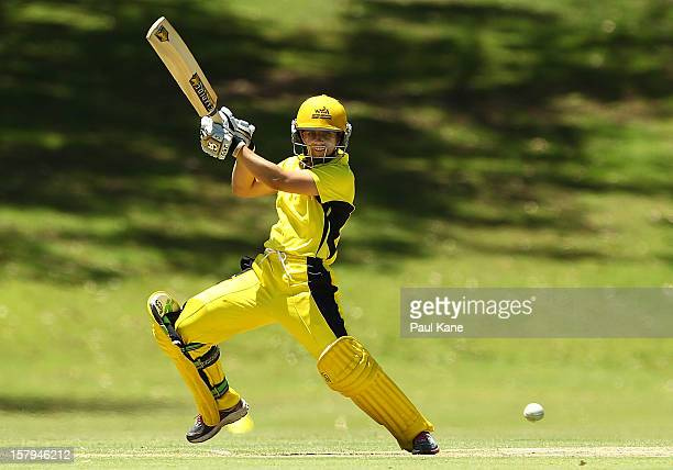 Nicole Bolton of the Fury bats during the WNCL match between the Western Australia Fury and the South Australia Scorpions at Christ Church Grammar...