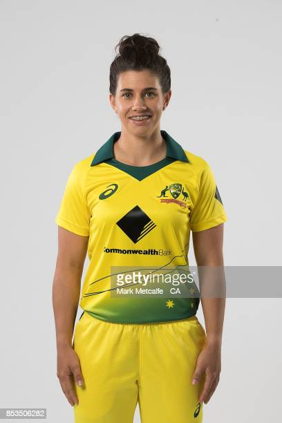 Nicole Bolton poses during a Cricket Australia Women's Player Camp at the Centre For Excellence on September 18 2017 in Brisbane Australia