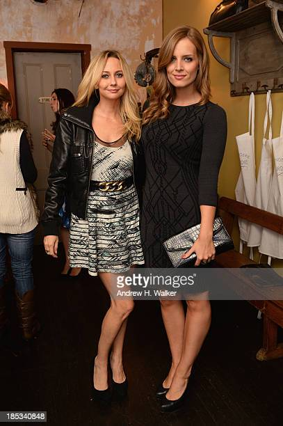 Nicole Bray and Stylist Kelly Framel attend Hannah Bronfman and GREY GOOSE Vodka host exclusive dinner experience at the Boulangerie Picardie on...