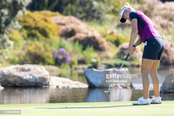 Nicole Broch Larsen during the first round of the Kia Classic at Aviara Golf Club on March 28 2019 in Carlsbad California