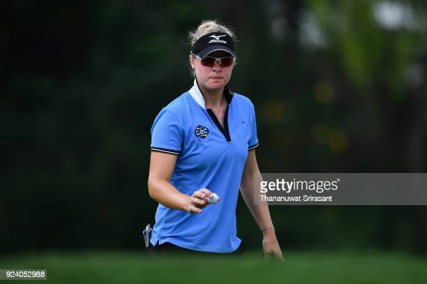 Nicole Broch Larsen of Denmark looks on during the Honda LPGA Thailand at Siam Country Club on February 25 2018 in Chonburi Thailand