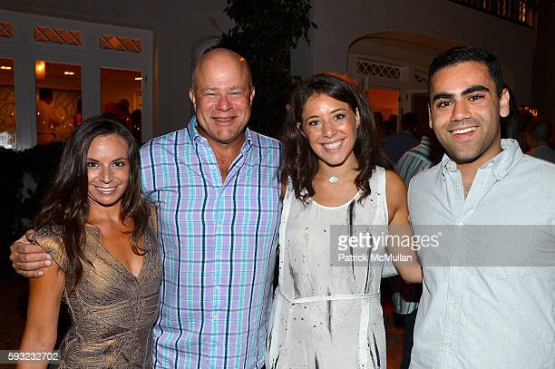 Nicole Bronish David Tepper Casey Tepper and Ross Gordon attend the Apollo in the Hamptons 2016 party at The Creeks on August 20 2016 in East Hampton...