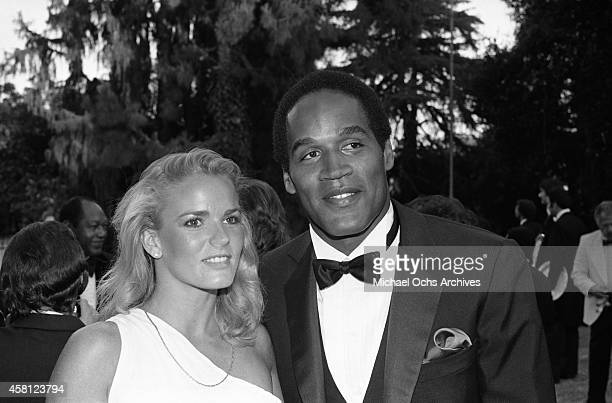 Nicole Brown and OJ Simpson attend a function circa 1984 in Los Angeles California