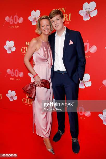 Nicole Bruehl and her son Bennett attend the Mon Cheri Barbara Tag 2017 at Postpalast on November 30 2017 in Munich Germany