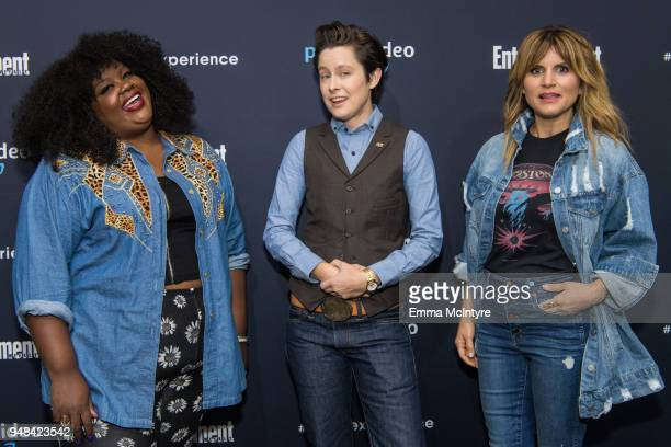 Nicole Byer Rhea Butcher and Brooke Van Poppelen attend Prime Video EW's Night of a Thousand Laughs at Hollywood Athletic Club on April 18 2018 in...