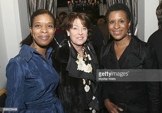 Nicole Byrd Kitt Garrett and Michelle Byrd attend Gotham Awards Cocktail Reception at the Charles Nolan Store on November 6 2007 in New York City New...