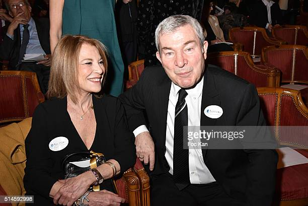 Nicole Calfan and Martin Lamotte attend the 10th Rein Foundation Gala At Theatre des Champs Elysees on March 9 2016 in Paris France