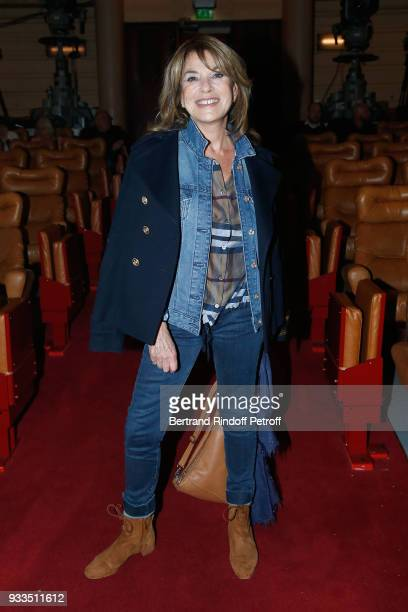 Nicole Calfan attends Sylvie Vartan performs at Le Grand Rex on March 16 2018 in Paris France