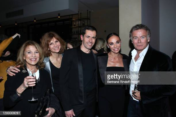 Nicole Calfan Florence Pernel Choreographer of the show Julien Lestel Producer and Dancer of the show Alexandra Cardinale and Franck Dubosc pose...