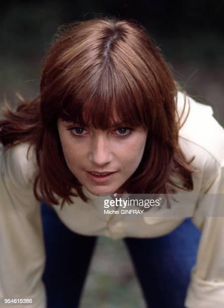 Nicole Calfan lors du tournage du film 'Les Chiens' en 1978, France.