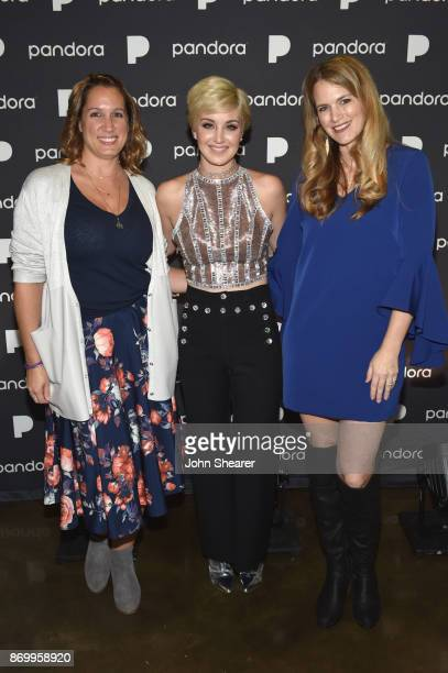 Nicole CarboneRogers Senior Director Experiential Marketing and Live Production of Pandora singersongwriter Maggie Rose and Beville Dunkerly of...
