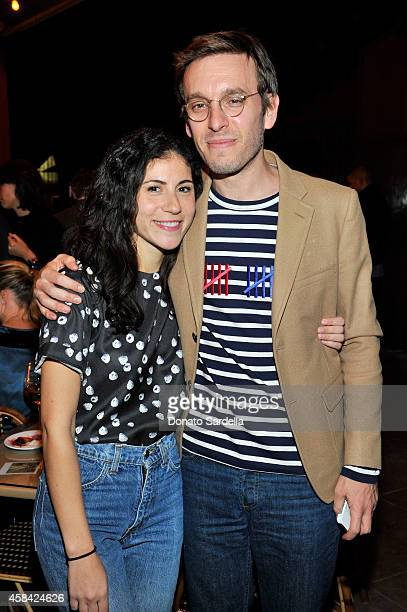 Nicole Cari and designer Scott Sternberg attend the private dinner to celebrate Scott Sternberg and 10 Years of Band of Outsiders hosted by Barneys...