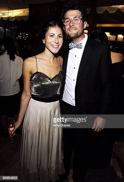 Nicole Cari and onair AMC News correspondent Jacob Soboroff attend the AMC Golden Globes viewing party at The Beverly Hilton Hotel on January 17 2010...