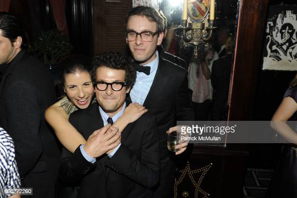 Nicole Cari Jacob Soboroff and Scott Sternberg attend OPENING CEREMONY and BLACK FRAME host CFDA After Party at The Jane Hotel on June 15 2009 in New...