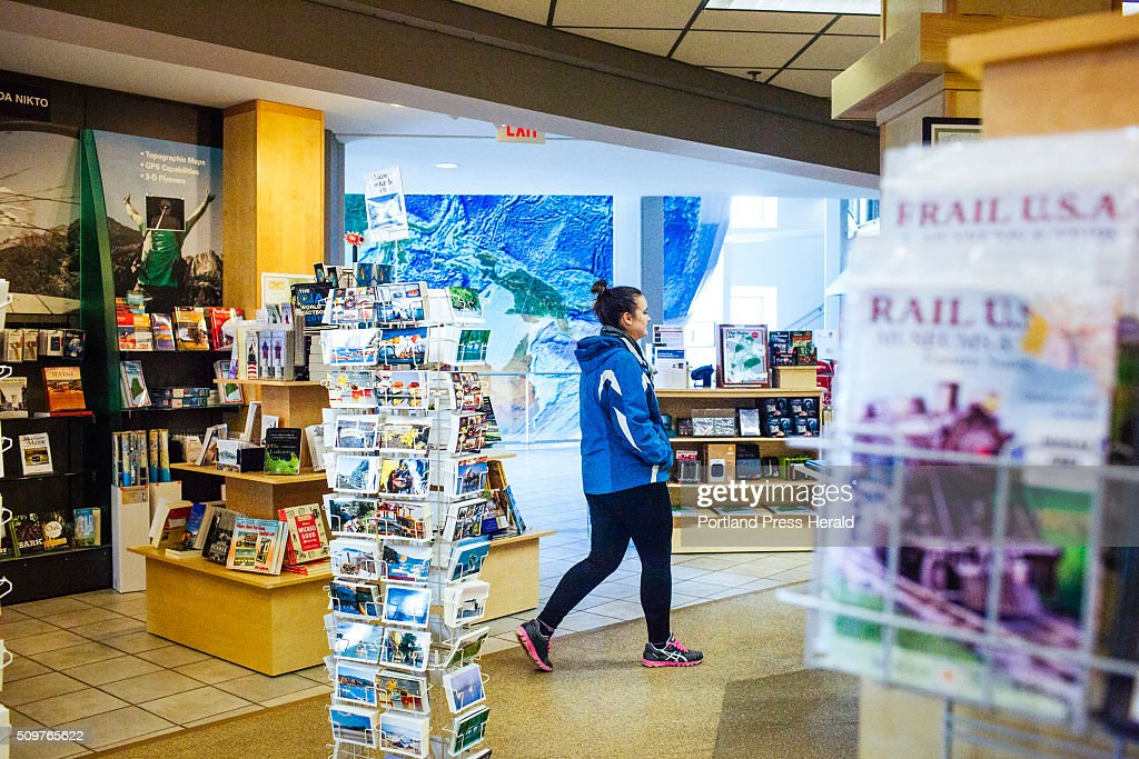 Nicole Cary walks through the The DeLorme Map Store, which was ... on