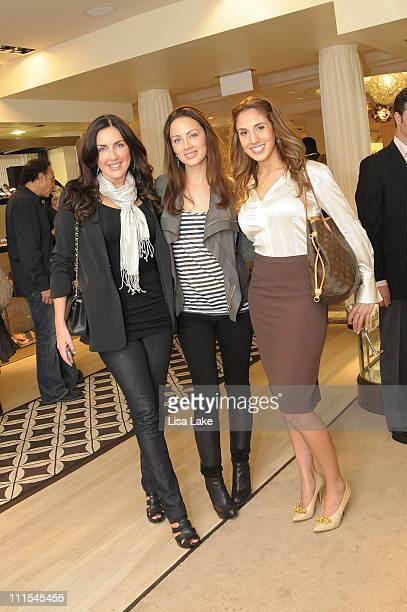Nicole Cashman Jennifer Utley and Lauren Odorisio attend the Italian Fashion Style event presented by the Italian Trade Commission Marie Claire and...