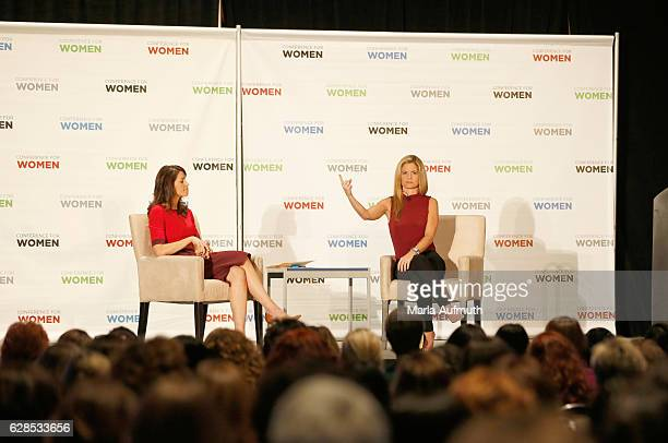 Nicole Castillo and Momasterycom founder and author Glennon Doyle Melton speaks onstage during the Massachusetts Conference for Women at Boston...