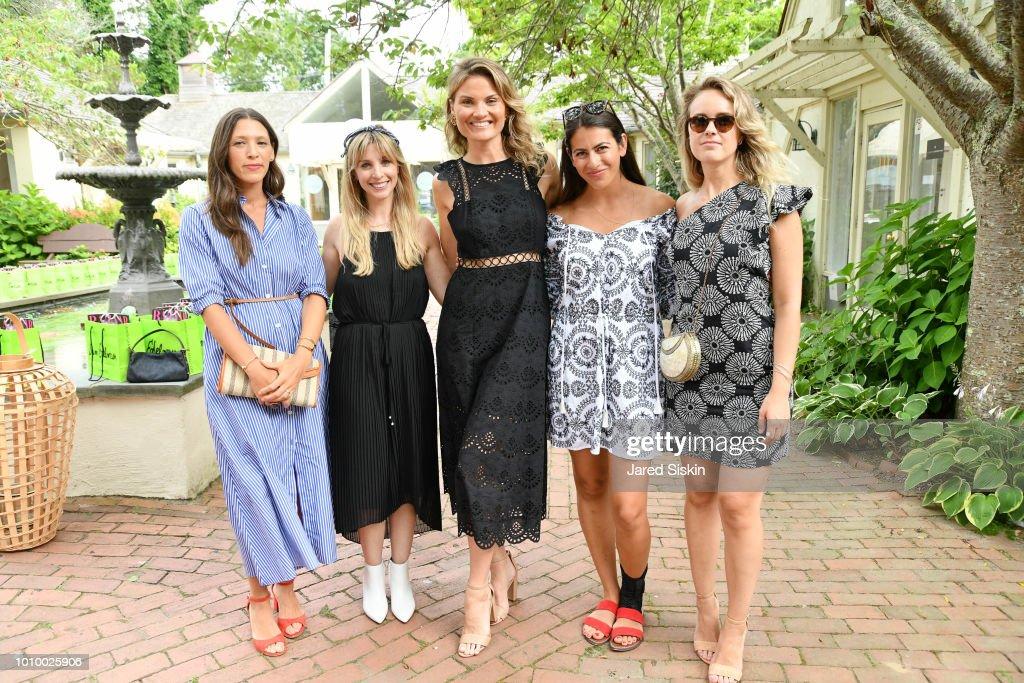 Nicole Clayton, Kerry Pieri, Lizzi Bickford, Noel Tota and Sara Oldmixon attend Harper's BAZAAR X Sam Edelman Mid-Summer Hamptons Event on August 2, 2018 in Southampton, New York.